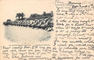 POSTCARD-EGYPT-KARNAK-Avenue-de-Sphinx