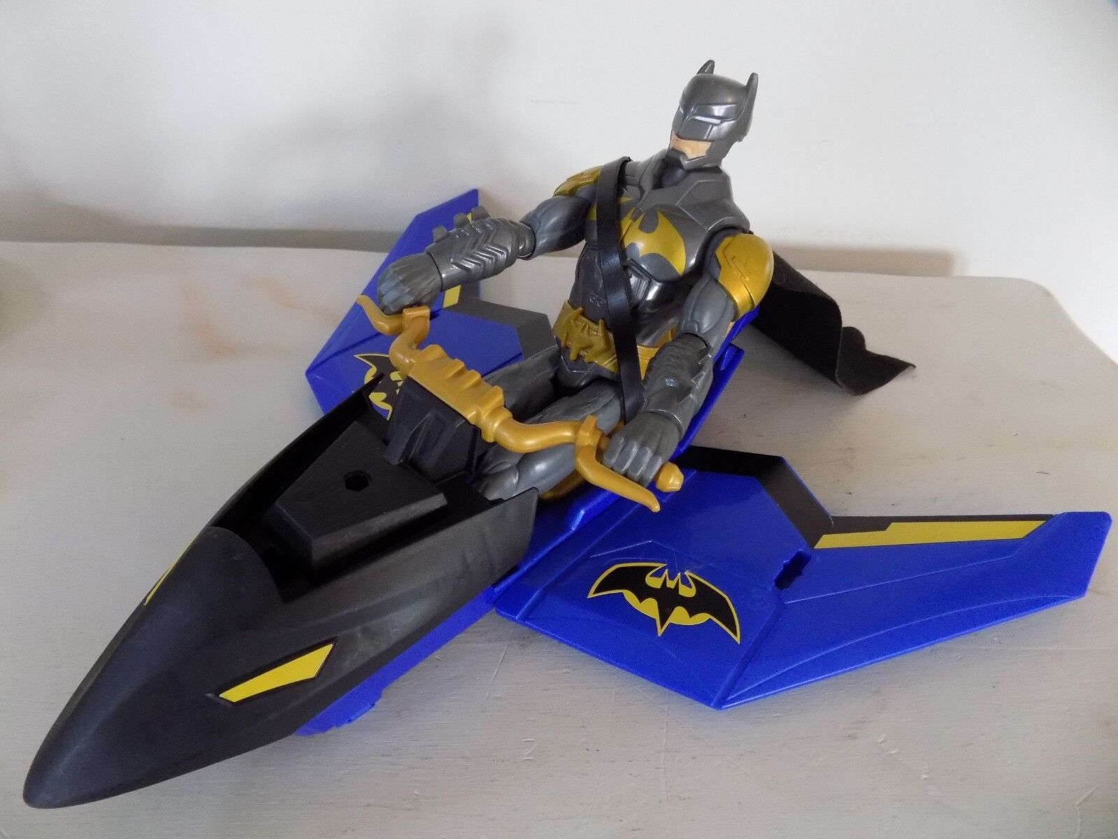 DC Comics Mattel Gold grau Batman Figure Batplane TM