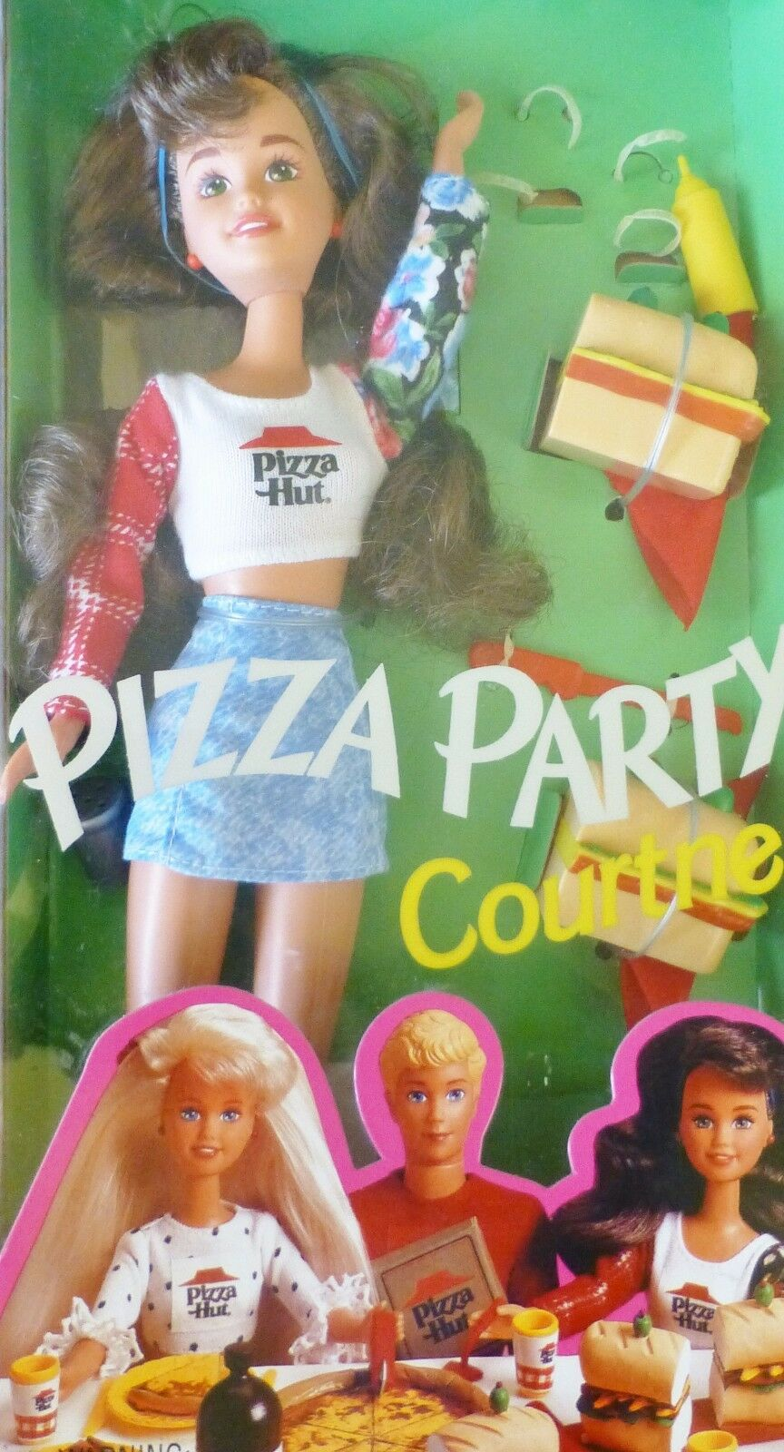 PIZZA PARTY Courtney SKIPPER'S amica Pizza Hut BARBIE 1994 NRFB  RARO  autentico