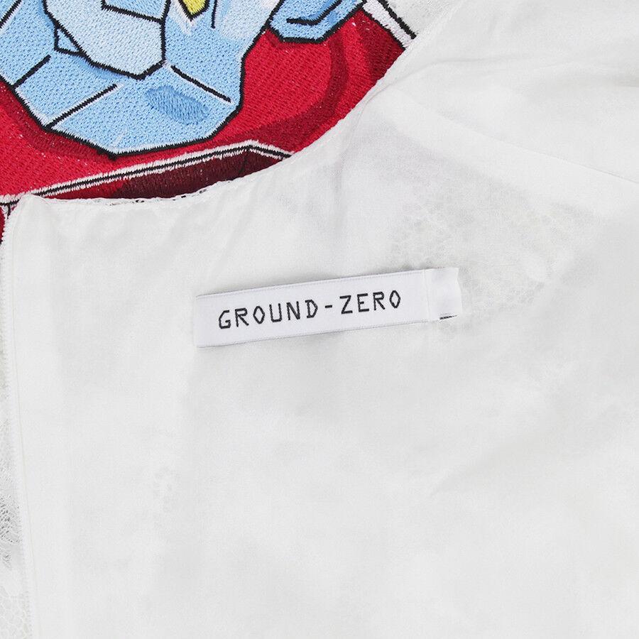 Ground Zero Bianco Pizzo ROBOT Bear ricamato abito XS UK6 UK6 UK6 US2 02f714