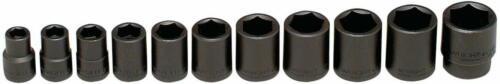 11-Piece Wright Tool 411 6-Point Standard Impact Socket Set