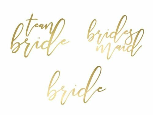 gold Temporary tattoos Bachelorette party 1 pkt // 15 pc.