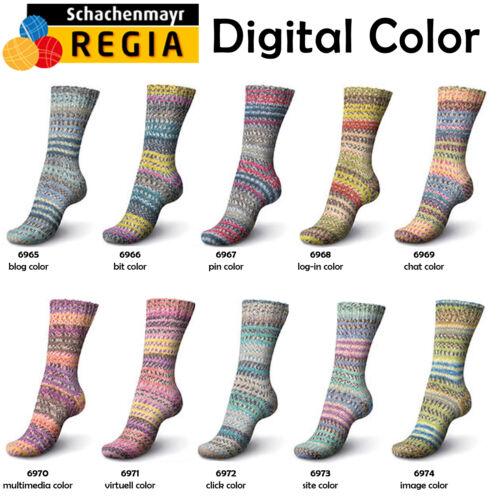 """150g Regia /"""" Digital Color /"""" 6-Fach Sockenwolle Schachenmayr 6.60€//100g"""
