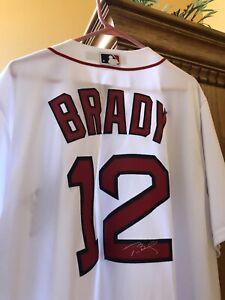 Boston Red Sox Majestic Tom Brady NFL x MLB Crossover Jersey ...