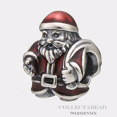 Authentic Pandora Sterling Silver St. Nick Bead 791231ENMX