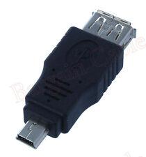 2 Pack Lot - USB A Female to Mini USB B 5 Pin Male Adapter (AUA2-MN51-2PK)