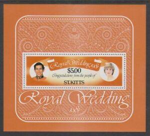 St Kitts - 1981, Königliche Hochzeit Blatt - MNH - Sg MS81