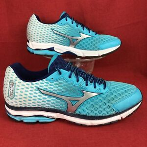 afad45b704af MIZUNO WAVE RIDER 18 Blue Atoll Silver Blue Depths running shoes ...