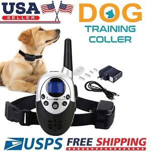 1000Feet-Waterproof-Shock-Vibrate-Remote-Training-Collar-for-Large-Med-Small-Dog