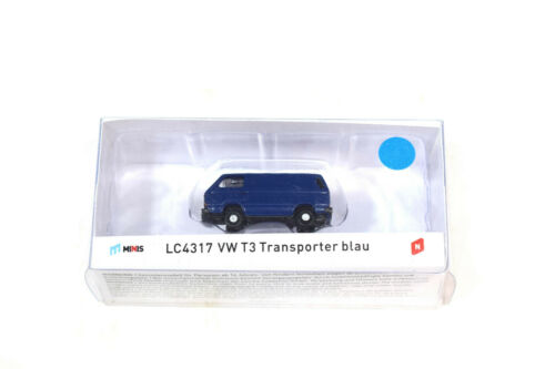 Lemke Minis LC4317 VW T3 Transporter blau 1:160