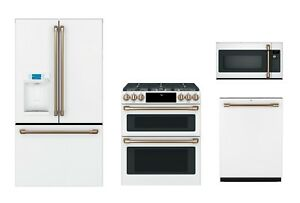 Ge Cafe Matte White Kitchen Package