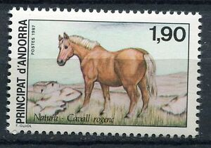 Sporting Timbre Andorre France Neuf N° 361 Stamps Faune Cheval