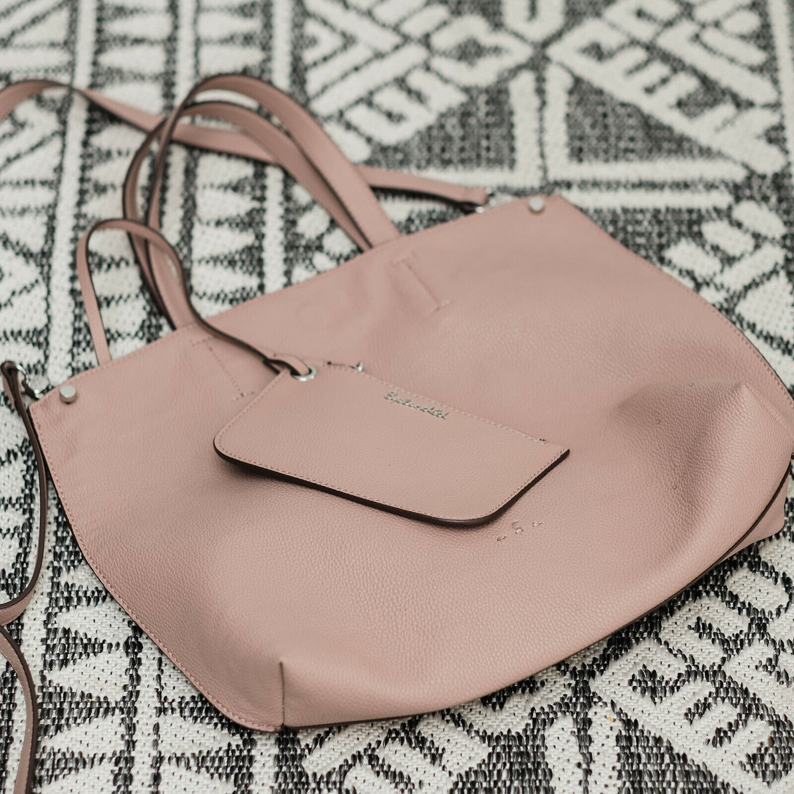 splendid blush tote With Wallet Attachement