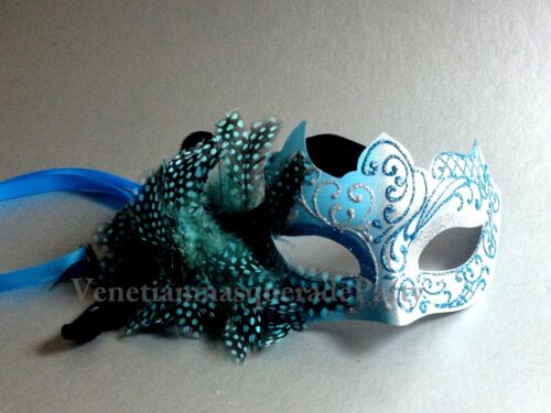 Mysterious feather Masquerade Ball dress up prom half face Eye Mask Girl Women