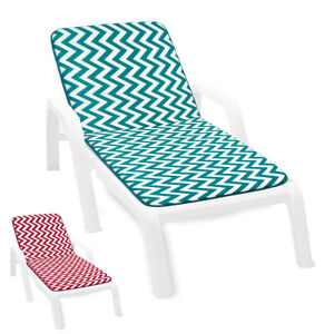 Cushion Sdeckchair Soft Home Pool Cover Sitting Sun Bed A Stripes Zig Zag Modern