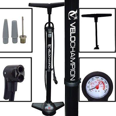 Qualificato Pro Moto Ad Alta Pressione Pavimento/track Pompa Presta/schrader Barile In Acciaio Nero Gauge-r Black Steel Barrel Gauge It-it