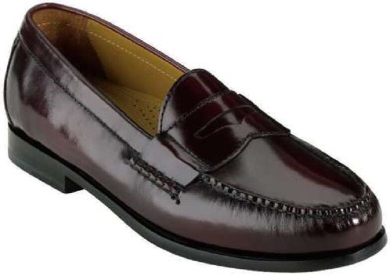 Cole Haan Men's Pinch Penny Moc Toe Slip On Casual Loafer shoes Burgundy 7 NEW