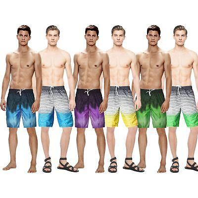 YYear Mens Elastic Waist Slim Casual Multi-Pockets Board Shorts Beach Swim Trunk
