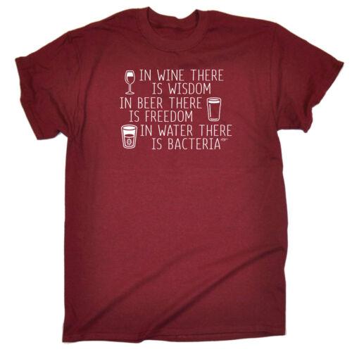 Divertenti Novità T-Shirt UOMO Tee T-Shirt-IN VINO non esiste saggezza
