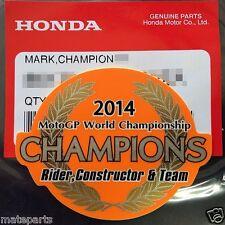 GENUINE HONDA CHAMPIONS MOTO GP 2014 Marc Marque REPSOL HRC STICKER DECAL EMBLEM