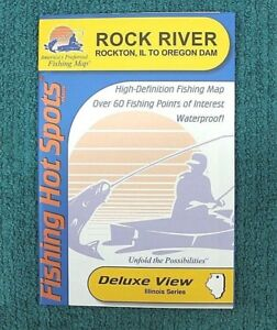 Rock River Illinois Fishing Hot Spots Maps Deluxe View Fishing Guide