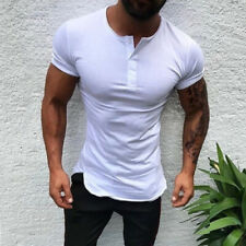 f19527afa8 item 1 Mens Slim Fit Short Sleeve T Shirt Muscle Tee Casual Blouse Tops  Henley Shirts -Mens Slim Fit Short Sleeve T Shirt Muscle Tee Casual Blouse  Tops ...