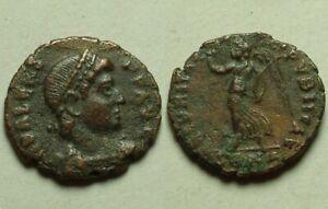 Rare genuine Ancient Roman coin Emperor Valens Victory Angel wreath Nicomedia