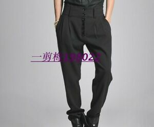 2019-Mens-Formal-Pants-Slim-Fit-High-Waisted-Harem-Pants-Long-Trousers-Plus-Size