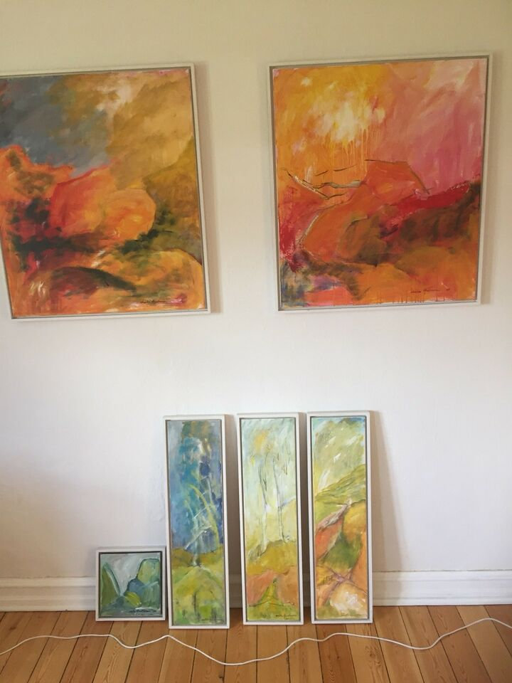 Akrylmaleri, Leila Andersen , motiv: Abstrakt