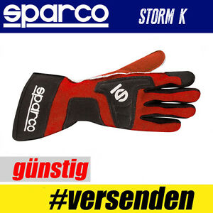 SPARCO-Karthandschuh-STORM-K-ROT-Professionelle-Handschuhe