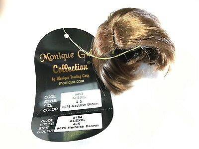 "MONIQUE Doll Wig Size 4/""-5/"" ALEXIS Reddish Brown NIB."