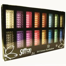 Saffron 16 colori in polvere Shimmer ombretto set di Tavolozze Ombretto KIT REGALO