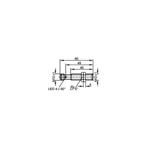 IFM IFT240 Inductive Sensor M12 DC PNP NO 3mm 000249