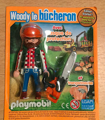 FIGURINE DE MAGAZINE PLAYMOBIL// WOODY LE BUCHERON  EDITION LIMITEE F12