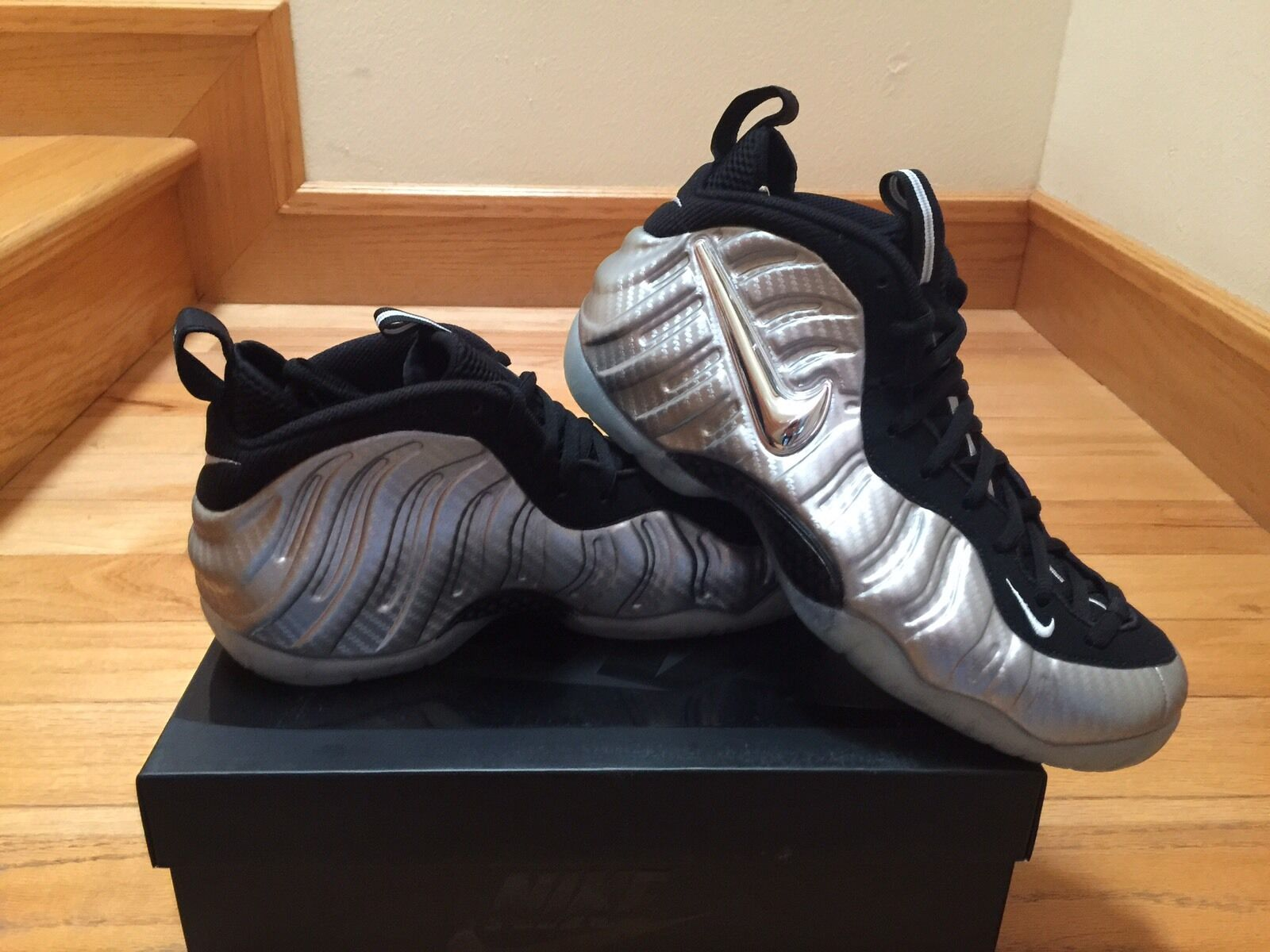 Nike Air Foamposite Pro Metallic Silver Surfer 616750-004 Size 9.5