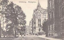 Göteborg / Gothenburg, Parkgatan, old b+w postcard, posted 1910