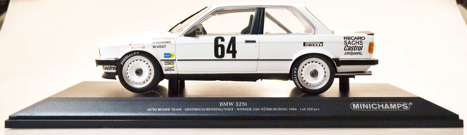 Minichamps 155862664 bmw 325i Budde Oestrich Rensing nurburgring 86 1 18 nuevo en el embalaje original