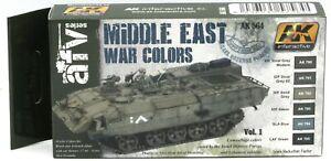 AK-Interactive-AK564-Middle-East-War-Colors-Vol-1-AFV-Series-Paint-Set-IDF