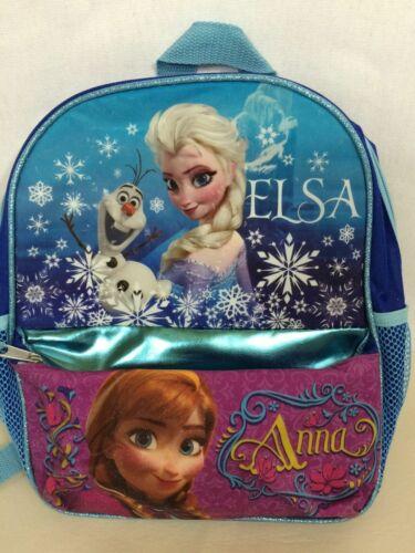 Disney Princess Frozen Backpack Mini Elsa /& Anna Mini Glitter Bookbag Olaf NWT