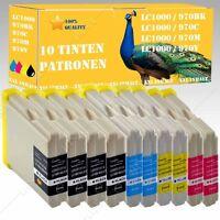 10x Tinte kompatibel mit Brother LC970 LC1000 MFC 665CW / MFC 680CN MFC 685CW