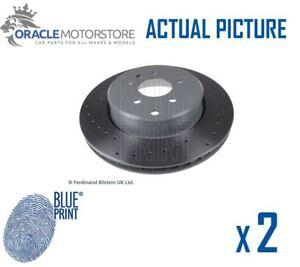 2-X-Discos-De-Freno-Trasero-De-Impresion-Azul-Nuevo-Set-FRENADO-DISCOS-par-OE-Calidad-ADT343303