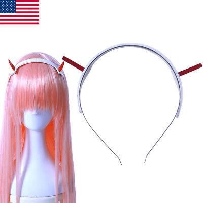 DARLING In The FRANXX Zero Two CODE:002 Headwear Cosplay Prop Hair Headbands