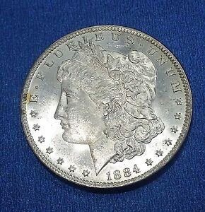US-Morgan-Silver-Dollar-1884-O-1878-1921-White-Luster-Cameo-Proof-Like