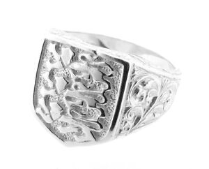 Mens-Sterling-Silver-Three-Lions-Shield-England-Ring-Made-in-England