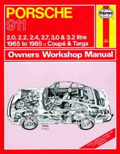 Haynes Workshop Manuale PORSCHE 911 Targa Carrera 1965-1985 Assistenza e Riparazione