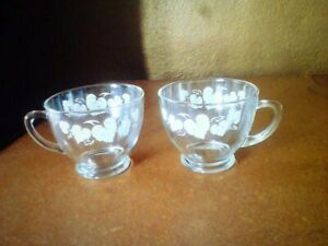 Anchor Hocking White Leaf Punch Cups drinkware home kitchen