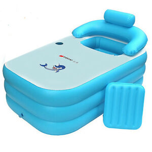 Image Is Loading NEW Adult PVC Folding Portable Bathtub Inflatable Bath