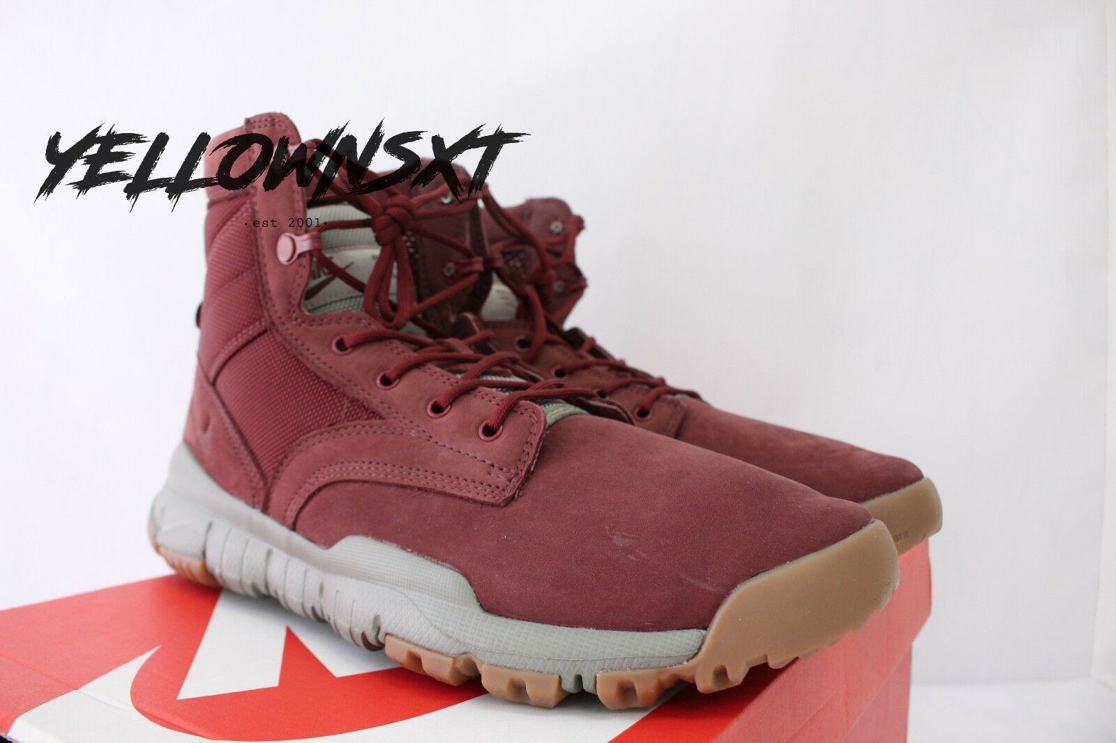 "NIKE SFB 6"" SPECIAL FIELD BOOT SZ TEAM 13 DARK TEAM SZ RED GUM LEATHER 862507 600 532fcb"
