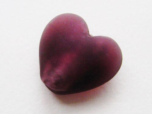 Lámina de plata abalorios corazón Matt 22x24mm 2 unidades serajosy corazón perlas