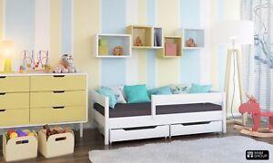 Letto Con Cassettiera : Letto per bambini in legno con cassetti miki colore bianco